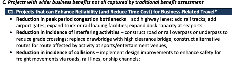 C. Projects with wider business benefits not all captured by traditional benefit assessment